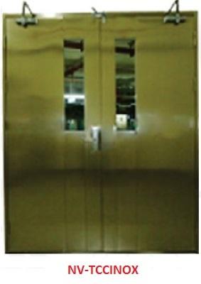 Cửa thép Inox chống cháy 2 cánh TCC-INOX